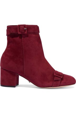 SCHUTZ Sabrini buckled nubuck ankle boots