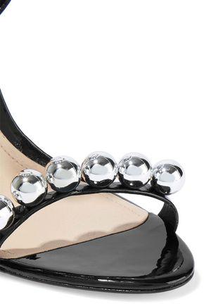 SCHUTZ Nellie embellished patent-leather sandals