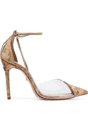 SCHUTZ PVC-paneled cork pumps