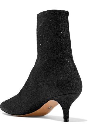 SCHUTZ Albertin metallic knitted sock boots