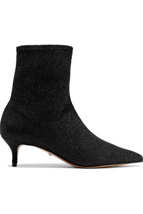 SCHUTZ Albertin metallic knitted sock boots