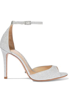 SCHUTZ Saasha Lee glittered leather sandals