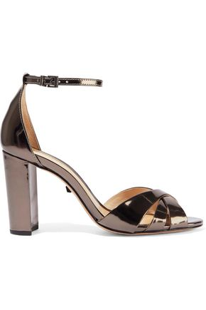 SCHUTZ Alzira metallic patent-leather sandals
