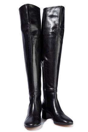 db95b0d8bbe GIANVITO ROSSI Rollind leather over-the-knee boots