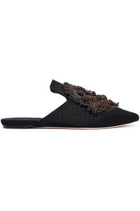 SANAYI 313 Cedronello appliquéd faille slippers