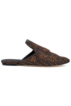 SANAYI 313 Ragno embroidered metallic jacquard slippers