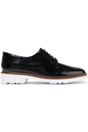 ROBERT CLERGERIE Jonk glossed-leather brogues