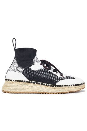 ALEXANDER WANG Dakota stretch-knit espadrille sneakers