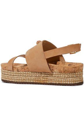 SCHUTZ Monica nubuck platform espadrille sandals