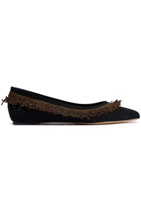 SANAYI 313 La Scala fringed faille point-toe flats