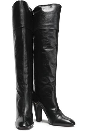 MARC JACOBS Crinkled leather boots