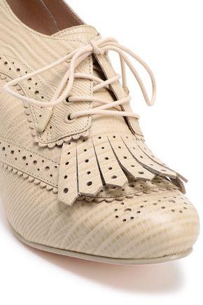 ZIMMERMANN Croc-effect leather pumps