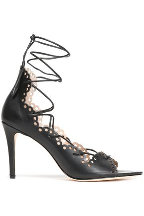 ZIMMERMANN Scalloped laser-cut leather sandals