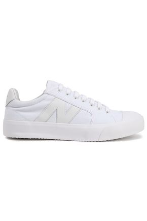 ZIMMERMANN Leather-trimmed canvas sneakers