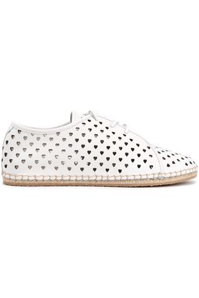 ZIMMERMANN Laser-cut leather espadrilles