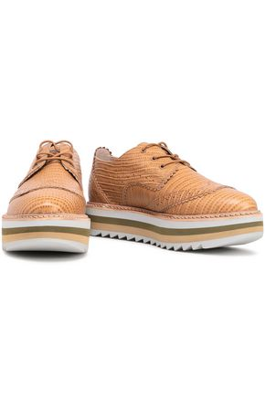ZIMMERMANN Croc-effect leather brogues