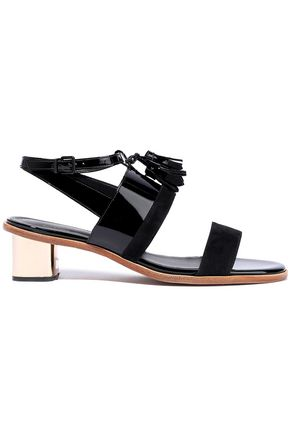 ROBERT CLERGERIE Suede and patent-leather sandals