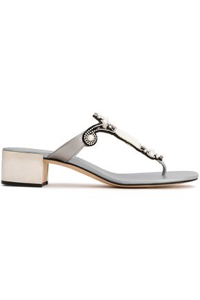 RENE' CAOVILLA Embellished leather sandals