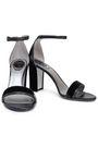 RENE' CAOVILLA Crystal-embellished satin-trimmed velvet sandals