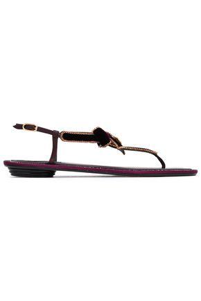 RENE' CAOVILLA Embellished velvet sandals