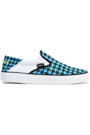 VETEMENTS Houndstooth canvas slip-on sneakers