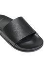 VETEMENTS Textured-leather slides