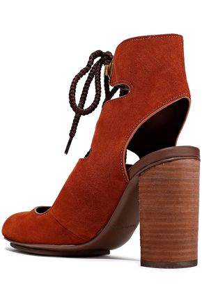SEE BY CHLOÉ Edna lace-up suede ankle boots