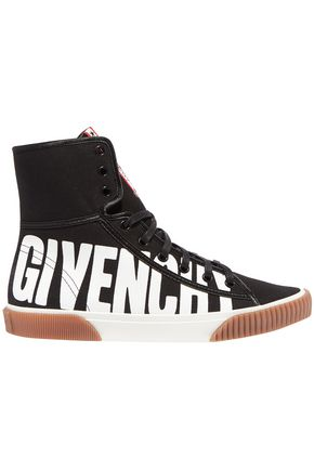 GIVENCHY Printed canvas high-top sneakers
