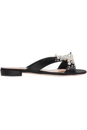 1bf4e47d473b MIU MIU Raso embellished cutout satin sandals