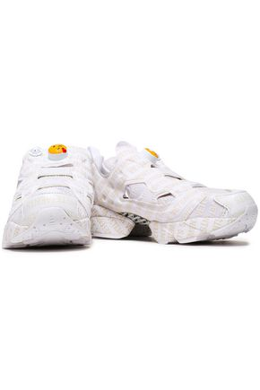 REEBOK x VETEMENTS Cutout printed mesh sneakers