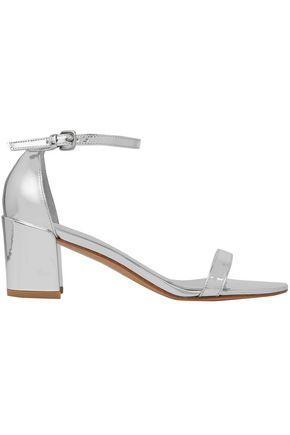 STUART WEITZMAN Mirrored metallic leather sandals