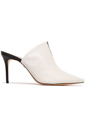 SCHUTZ Two-tone leather mules