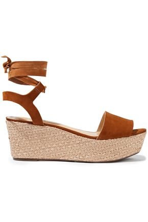 SCHUTZ Suede espadrille wedge sandals