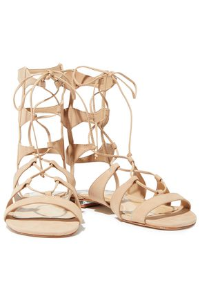 SCHUTZ Erlina lace-up nubuck sandals