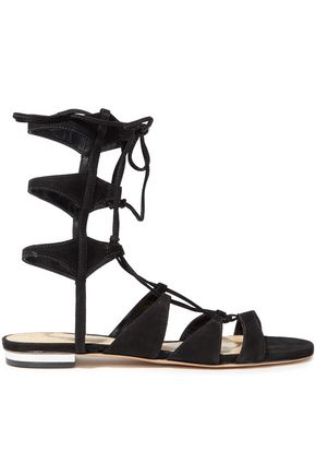 SCHUTZ Erline lace-up suede sandals
