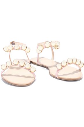 SCHUTZ Hebe bead-embellished patent-leather sandals
