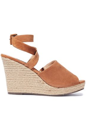 SCHUTZ Kenna suede wedge espadrille sandals