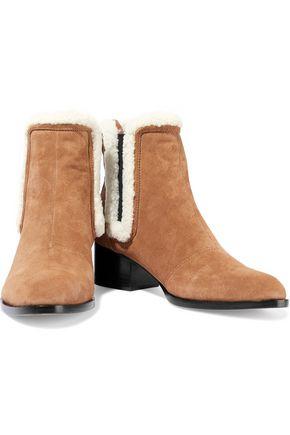 RAG & BONE Walker shearling-trimmed suede ankle boots
