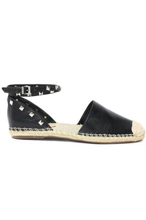 SCHUTZ Loralina studded leather espadrilles