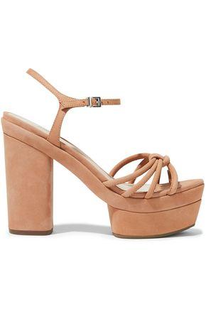 SCHUTZ Knotted nubuck platform sandals