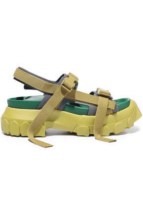 RICK OWENS Sisyphus Hiking leather platform sandals