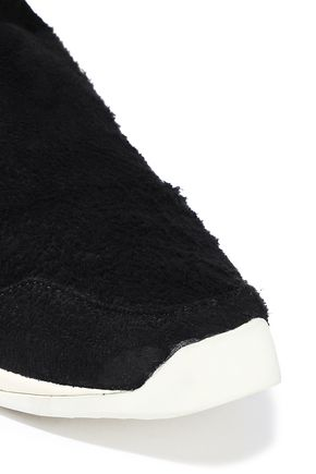 RICK OWENS x ADIDAS Brushed-suede sneakers