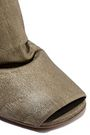 RICK OWENS Metallic textured stretch-leather sock boots