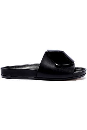 RICK OWENS Granola Disc embellished leather slides