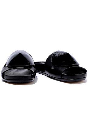 RICK OWENS Granola Disc embellished leather slides