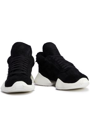 RICK OWENS x ADIDAS Vicious distressed suede sneakers