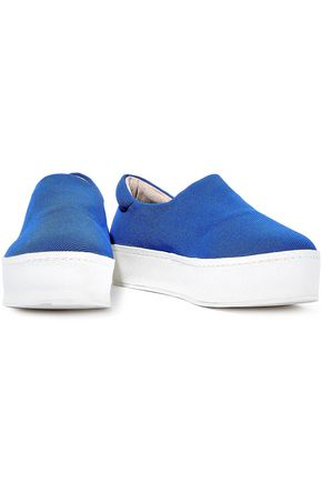 Opening Ceremony OPENING CEREMONY WOMAN CICI TWILL PLATFORM SLIP-ON SNEAKERS AZURE