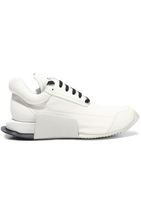 RICK OWENS x ADIDAS Level Runner Low II leather platform sneakers