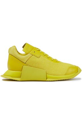 RICK OWENS x ADIDAS Level Runner Low II leather and stretch-knit sneakers