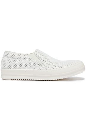 DRKSHDW by RICK OWENS Deck perforated canvas slip-on sneakers